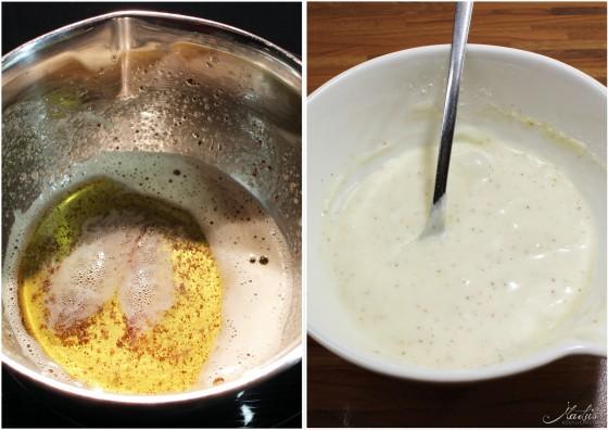 Apfelgugl Brownes Butter Guss
