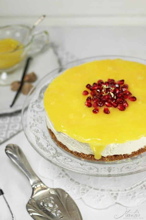 Vanille Cheesecake mit Orangen 40
