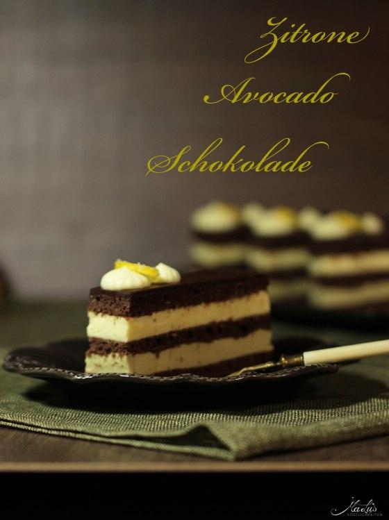 Schokoladenschnitten mit Zitrone und Avocado 112