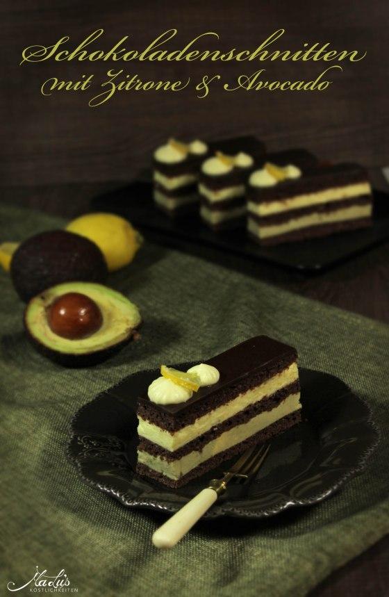 Schokoladenschnitten mit Zitrone und Avocado 15