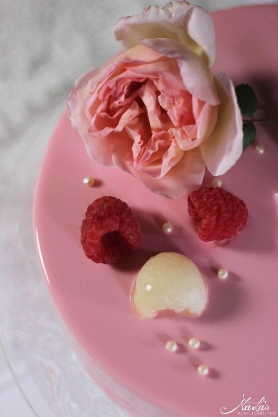 Himbeer-Lychee-Rosen Torte %22Ispahan%22 1