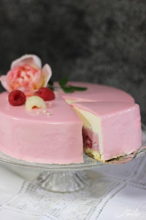 Himbeer-Lychee-Rosen Torte %22Ispahan%22 8