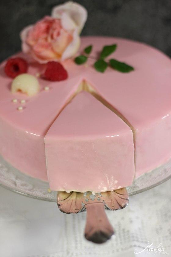 Himbeer-Lychee-Rosen Torte %22Ispahan%22 9