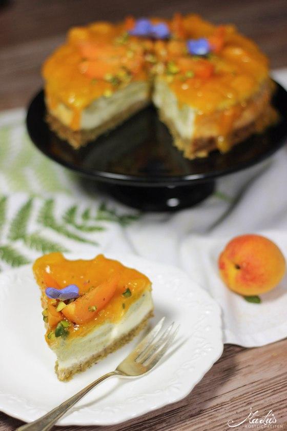 Pistaziencheesecake mit Aprikosen 5