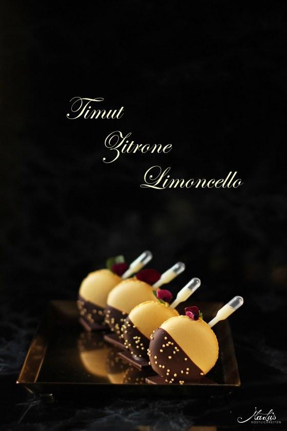 Macarons mit Zitrone, Timutpfeffer & Limoncello