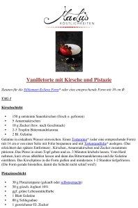 Rezept PDF Vanilletorte mit Kirsche & Pistazie