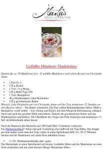 Rezept: Gefüllte Himbeer-Madeleines / MaLu's Köstlichkeiten