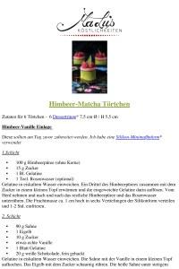 Rezept - Himbeer-Matcha Törtchen // MaLu's Köstlichkeiten
