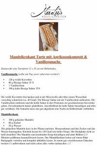 Rezept Mandelkrokant Tarte mit Aprikosenkompott & Vanilleganache