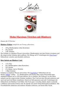 Mohn-Marzipan Törtchen Rezept