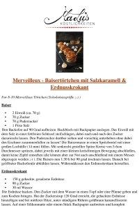 REZEPT: Merveilleux - Baisertörtchen mit Salzkaramell & Erdnusskrokant | MaLu's Köstlichkeiten