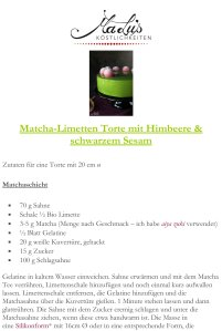 Matcha-Limetten Torte Rezept