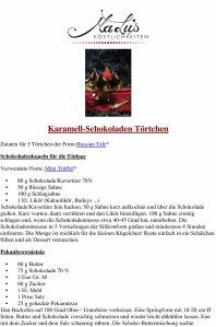 Karamell-Schokoladen Törtchen Rezept PDF