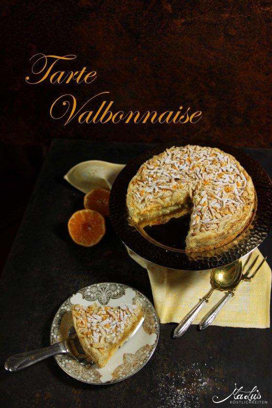 Tarte Valbonnaise - Mandelmakronentarte mit Orange
