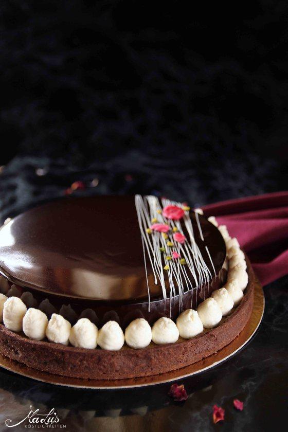 Schokoladentarte mit Pistazie & Kokos | MaLu's Koestlichkeiten