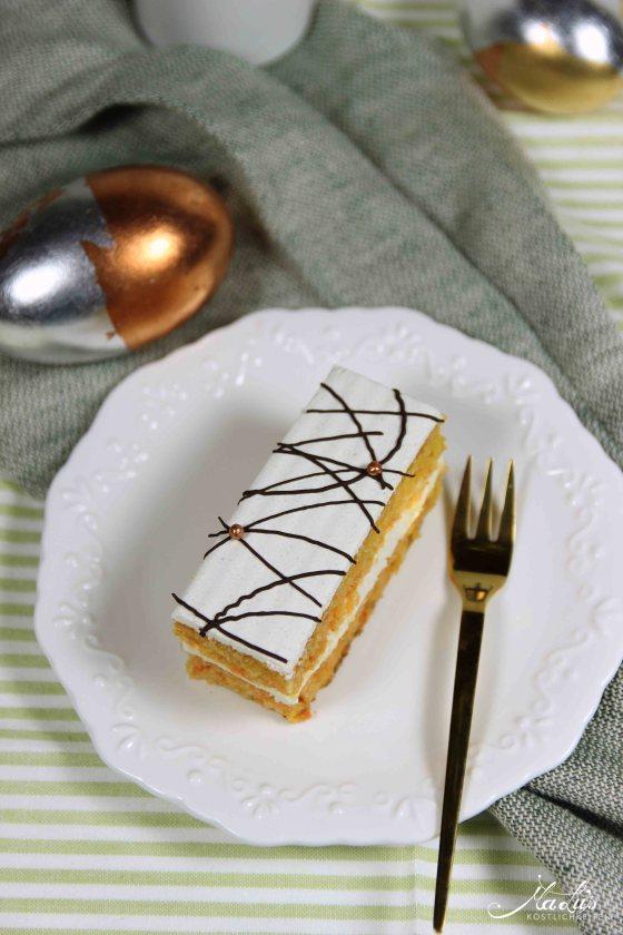 Saftiger Möhrenkuchen mit Quarkfüllung   MaLu's Köstlichkeiten