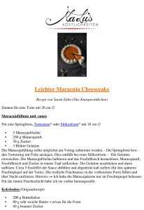 Rezeptdruck - Fruchtig leichter Maracuja Cheesecake | MaLu's Köstlichkeiten